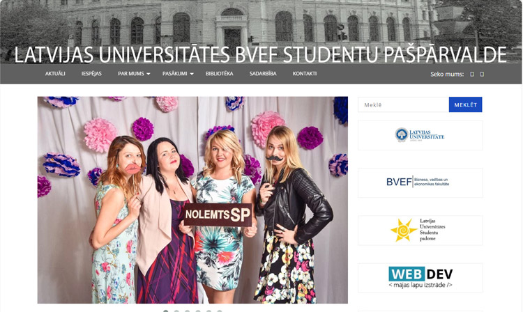 Latvijas Universitātes BVEF studentu pašpārvalde.